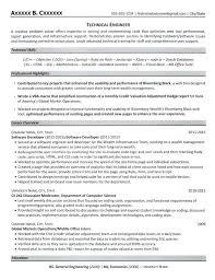 Technical Engineer Resume