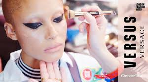 behind the scenes versus by versace makeup for london fashion week charlotte tilbury