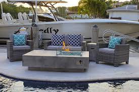 akoya outdoor essentials 42 round modern concrete fire pit table