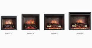 puraflame western 30 inch electric fireplace insert 100 energy saving led technology realistic resin