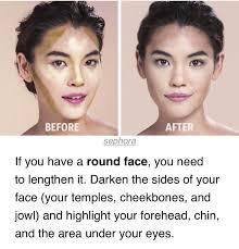 contour round face makeup