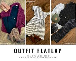 outfit flatlay mom style edition eventuallycomplete com