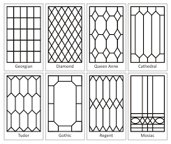 leaded glass patterns we