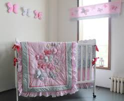 Giol Me Num Pink Butterfly Pattern Girl Baby Bedding Cotton Crib ... & Giol Me Num Pink Butterfly Pattern Girl Baby Bedding Cotton Crib Bedding Set  4pcs Quilt/Bed around/Mattress Cover/Bed Skirt-in Bedding Sets from Mother  ... Adamdwight.com