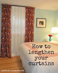 Diy Curtain Wall Diy Lengthening Our Master Bedroom Curtains Sue At Home