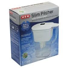 Home Water Filter System H E B 5 Cup Slim Pitcher Water Filtration System Shop Water