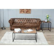 contemporary wooden brown end table brixton