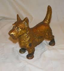 Bargain John's Antiques   Antique Cast Iron Scottie Dog Door Stop ...