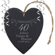 Rubinhochzeit Geschenke Personalisiertes Zum 40 Hochzeitstag