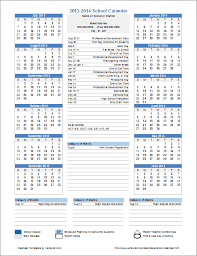 School Calendar Templates This Template Is Useful For Creating Official School
