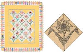 """Cheer up! 1930s quilt blocks come back to life (+ fabric giveaway ... & Garden Spinners 1930s quilt """" Adamdwight.com"""