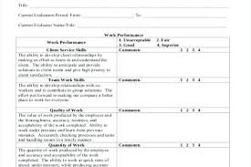 Company Performance Appraisal Form Download Employee Evaluation Free ...