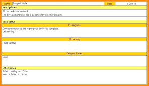 Status Report Format Daily Status Report Template Excel Authorization Content Uploads