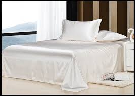 aliexpress com luxury ivory cream white silk bedding set califotnia super king size queen full twin duvet cover linen sheets bed in a bag 4pcs from