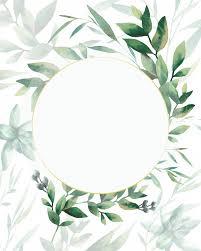 frame redondo de plantas em fundo