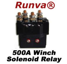new runva a electric winch solenoid relay v lb to lb image is loading new runva 500a electric winch solenoid relay 12v