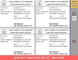 Atirta13.com adalah blog yang berbagi informasi download cara mendapatkan dollar dari aplikasi mintcoins pics, flashing hp, aplikasi dan administrasi guru yang mana file berikut ini adalah kumpulan dari berbagi sumber tentang aplikasi pembuatan kartu peserta ujian excel yang bisa bapak/ibu gunakan dan diunduh secara gratis. Aplikasi Cetak Kartu Uas Dan Uts Simpel Menggunakan Excel Ops School Web S
