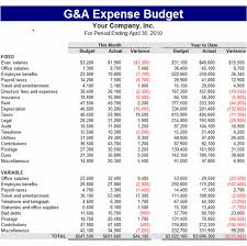 Download G A Expense Budget