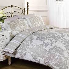 Elysee Natural Grey Flowers Patterned Duvet Cover Quilt Bedding ... & Elysee Natural Grey Flowers Patterned Duvet Cover Quilt Bedding Set,  Natural White Grey, Double Size - Bedroom Bed Linen: Amazon.co.uk: Kitchen  & Home Adamdwight.com