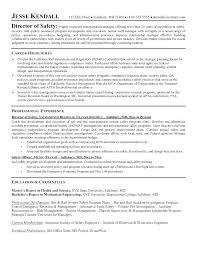 Safety Manager Resume Agreeable Construction Safety Manager Sample Resume For Your Safety