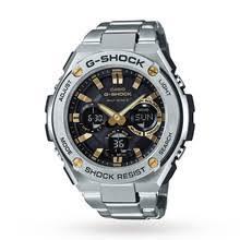 casio watches goldsmiths mens casio g steel alarm watch gst w110d 1a9er