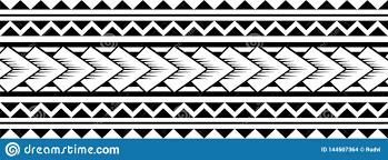 полинезийский вектор картины рукава татуировки самоанское
