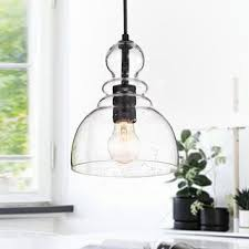 Pendant lighting fixtures kitchen Wayfair Nefelt Matte Black 1light Decanter Seeded Glass Pendant Overstockcom Buy Kitchen Pendant Lighting Online At Overstockcom Our Best