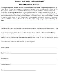 Permission Letter For A Parent New Sample Permission Letter For