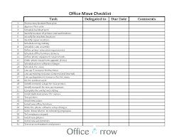Office Move Checklist Excel Relocation Checklist Excel Office Move