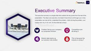 executive summery business case studies executive summary slide design slidemodel