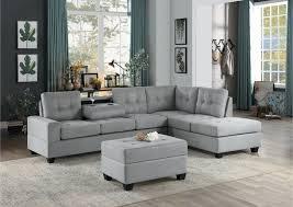 he 9507gry 3pc 3 pc maston gray fabric