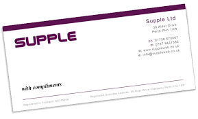 Printing and design at excellent prices. Suppleweb Graphic Design Compliment Slips