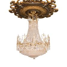 french empire style crystal opera basket chandelier