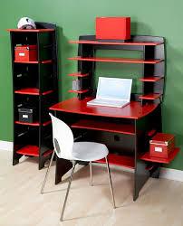 legare 36 student desk hutch red black