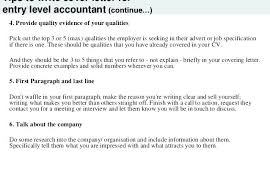 Sample Cover Letter For Accountants Cover Letter Accounting Position