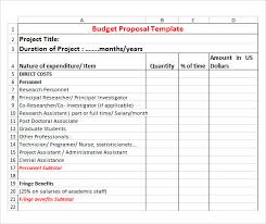Budget Proposal Template 17 Free Download For Pdf Word Excel
