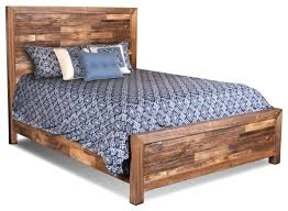 Fulton Solid Wood Queen Size Bed Frame Rustic Panel Beds by