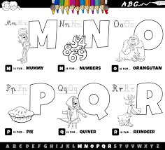 Numbers, alphabet, letters coloring pages. Alphabet Letters From M To R Coloring Book Download Free Vectors Clipart Graphics Vector Art