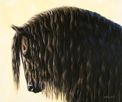 black horse painting horse painting friesland ility by crista forest