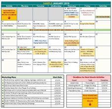 Marketing Calendar Template 2014 Excel Free Downloadable