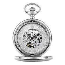 online get cheap pocket watches men aliexpress com alibaba group mens mechanical antique silver pocket watch men retro hand wind necklace chain skeleton pendant clock