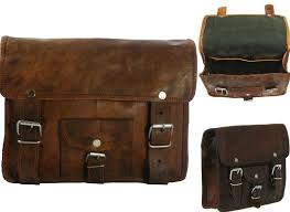 details about motorcycle side pouch brown leather saddle bags panniers 2bags from india