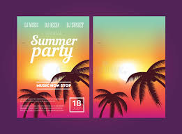 Summer Beach Party Flyer Stock Illustration. Illustration Of Poster ...