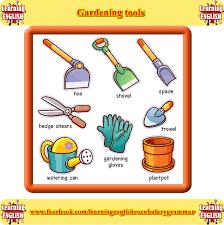 basic gardening tools. Modren Tools Basic Gardening Equipment Vocabulary In Gardening Tools K