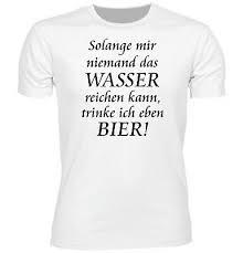 Herren Fun T Shirt Wasser Reichen Bier Geschenk Beer Sprüche Lustig