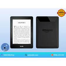 """Tặng cover] Máy đọc sách Kindle Voyage gen 7th - bộ nhớ 4GB, màn 6"""" 300PPI  - có đèn nền và phím lật trang tại Hà Nội"""