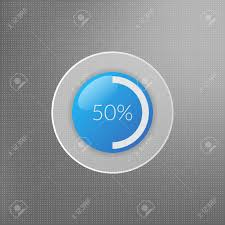 50 Percent Pie Chart 50 Percent Pie Chart Icon Percentage Vector Infographics Circle