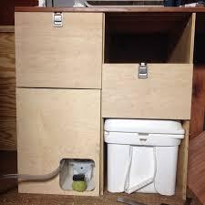 kitchen drawers and porta potty in dan s diy sprinter conversion