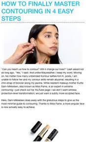 natural makeup contouring poster