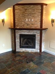 basement corner fireplace ideas basement traditional with custom bar south riding